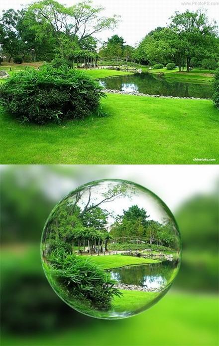 水晶球特效立体效果